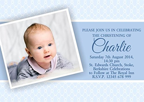 10 x personnalisé enfants Invitations baptême baptême Naming Day