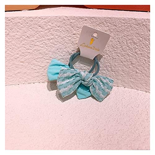 CHHNGPON Cuerda de Pelo para niños 2021 Corea Encantadora Dulce Dulce pequeña niña Fresca Tela de Rayas Arco Princesa Cabeza Cuerda para la Moda de los niños Accesorios para el Cabello