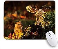 ZOMOY マウスパッド 個性的 おしゃれ 柔軟 かわいい ゴム製裏面 ゲーミングマウスパッド PC ノートパソコン オフィス用 デスクマット 滑り止め 耐久性が良い おもしろいパターン (素敵なハムスターとキノコ)