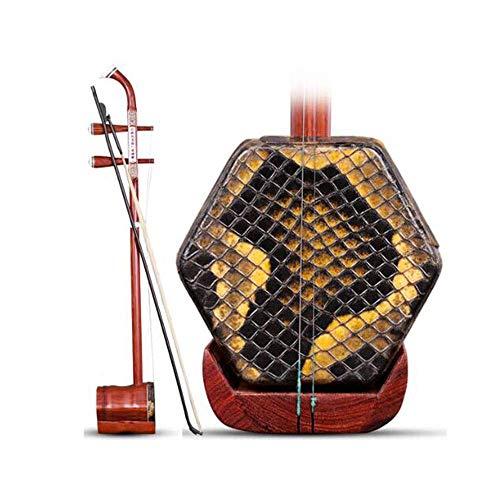 Erhu, handgemachte Rotes Sandelholz Erhu Musikinstrument, Rotes Sandelholz Erhu, nationale Musikinstrument, Anfänger Praxis Erwachsene Kindermusikinstrumente (Farbe: Rotes Sandelholz) DUZG