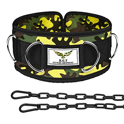 The x Bands Weighted Dip Belt - Weight Lifting Belt for Women - Weight Lifting Belts for Men - Weight Belt with Chain- Chain Belts for Women - Weightlifting Belt Men - Chain Belt Camo XS