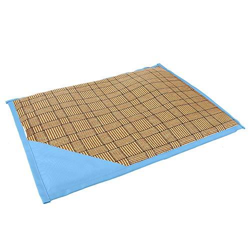 Jinyi Alfombrilla para Mascotas, cojín Suave de Verano para Mascotas, para Perros y Gatos con Capa de Esponja, cojín(Blue, M40*56)