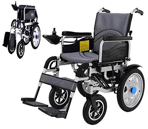 Z-SGLY Elektrischer Rollstuhl,Ultraleichter Faltbarer Elektrischer Rollstuhl Sitzbreite 45Cm 360 ° Joystick Gewicht Kapazität 120Kg Für Die Wohnung,Ältere Und Behinderte Menschen