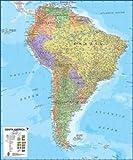 Poster Südamerika Landkarte laminiert 120x100cm #110059L