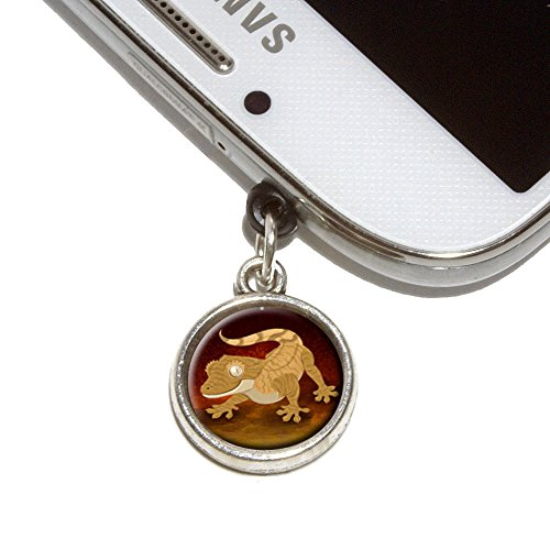 Crested Gecko Mobile Phone Jack Charm Universal Fits iPhone Galaxy HTC