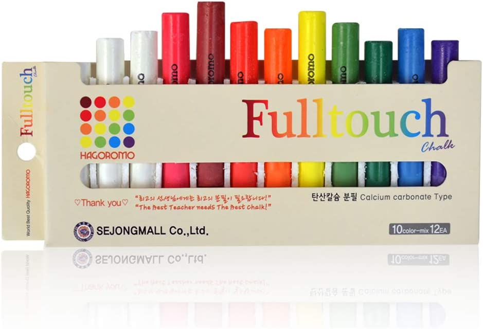 HAGOROMO sold out Fulltouch Color Tucson Mall Chalk Non-Toxic 12 Mix 10 Pcs -
