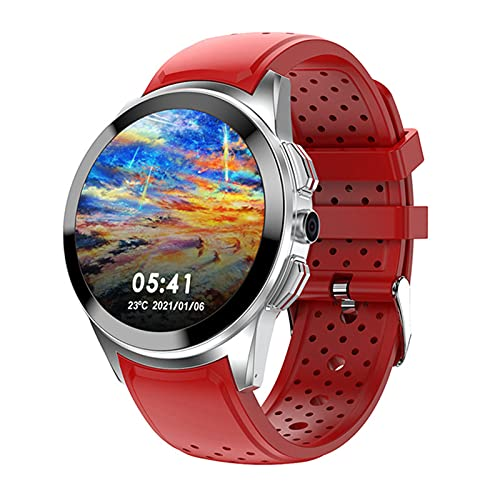 """XYZK Android 9.1 Smart Watch 4G, 1GB + 16GB 1.39""""Montre, Caméra 8MP Caméra SIM Appel téléphonique WiFi GPS Smart Watch pour Android iOS,A"""