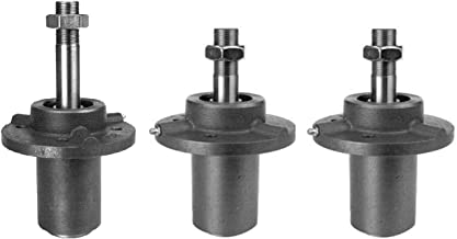 3 Spindle Set for Dixie Chopper, 2 with Short Shaft, 1 Long. 2 Short Replace 10161 300441, Long Replaces 10161-L 300442
