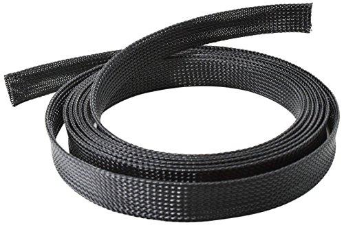 conecto CC50323 Universeller Polyester-Kabelschlauch, selbst zusammenziehend, Ø 20mm, 1,80m. Schwarz