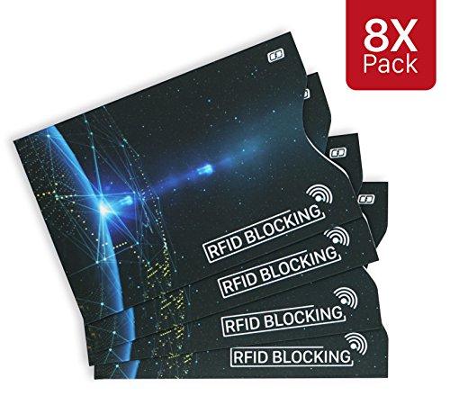 MyGadget Kreditkartenhülle abgeschirmt RFID & NFC [8 Stück] - EC Karten Schutzhülle Kartenhülle Schutz Blocker Karte fürs Portemonnaie