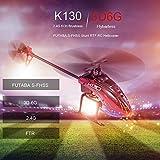 ヘリコプター,Funien K130 RCヘリコプター2.4G 6CHブラシレス3D6Gフライバーレス対応FUTABA S-FHSSスタントヘリコプター玩具、3個のバッテリー