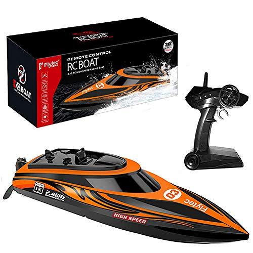 FATSW High Speed Ferngesteuertes Boot RC Boot, 30KM/H 2,4 GHz Funkfernsteuerung für Erwachsene & Kinder für Pool & Outdoor