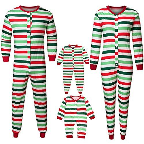 Officiële Familie Lange Pyjama Kerst Bijpassende Pjs Gestreepte Bedrukte Romper Pj Sets Warm Katoen Slaapmode Outfits Set Lange Mouw Vrolijke Kerst Jumpsuit Papa Mama Kids Baby Nachtjassen