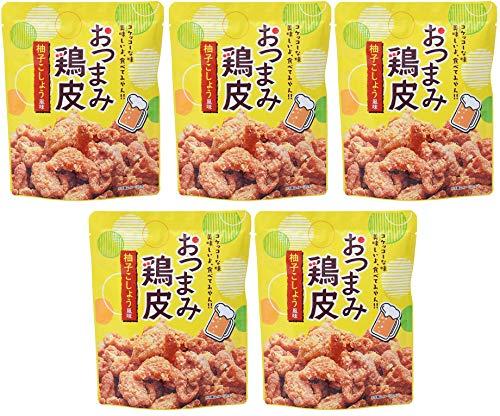 [ネオフーズ竹森] スナック おつまみとり皮 柚子こしょう風味 50g×5袋 国産 鶏皮使用/カリカリ食感 ×5個
