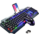 FELiCON® Wireless 2.4G Rechargeable Gaming Keyboard and Mouse Set, 3800mAh Large Capacity, Fast