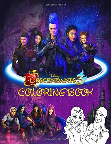 Disney Descendants 3 Coloring Book Jumbo Descendants 3 Coloring Books With 50 Coloring Pages For Kids And Adults