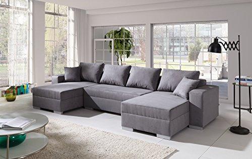 Sofa Couchgarnitur Couch Sofagarnitur Diego 3 U Polstergarnitur Polsterecke Wohnlandschaft mit Schlaffunktion (Antara 79)
