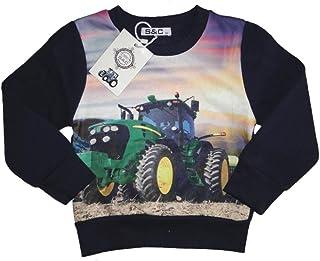 2594de5a4 pullover grau motiv traktor
