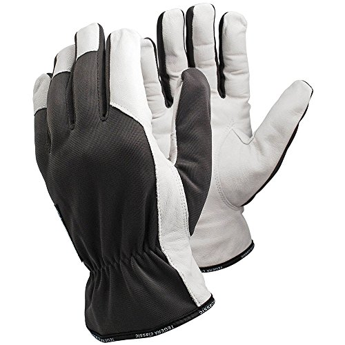 Ejendals Lederhandschuh Tegera 115, Größe 10, 1 Stück, grau/weiß, 115-10
