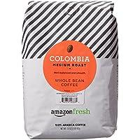 AmazonFresh Colombia Whole Bean Medium Roast Coffee, 32 Ounce