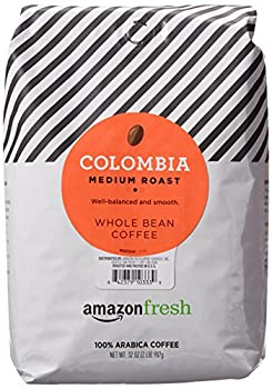AmazonFresh Colombia Whole Bean Coffee Medium Roast 32 Ounce  Pack of 1