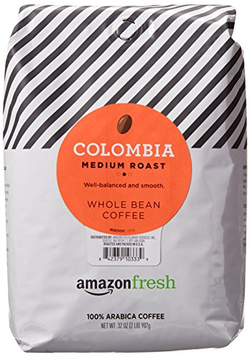 Colombia Whole Bean Coffee, Medium Roast, 32 Ounce