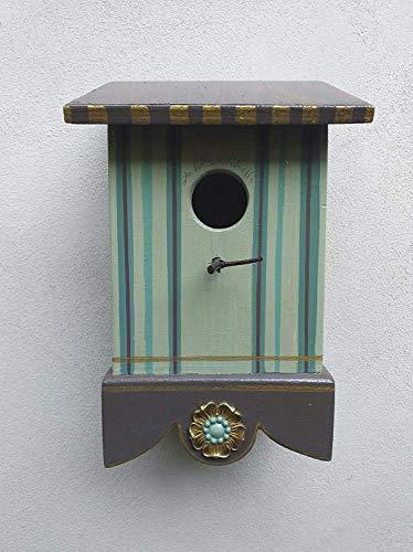 La Bottega di Betti Nido Bettino de pájaro de rayas verdes