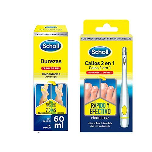 Scholl Callos Tratamiento Exprés 2 en 1 Rápido y Efectivo + Crema de Pies para Durezas 60ml
