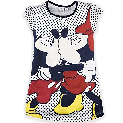 Disney Offizielles Nachthemd, Motiv Minnie Maus, kurze Ärmel, Mädchen-Nachthemd, 100% Baumwolle, 2-8Jahre–Kollektion 2018 Gr. 2-3 Jahre (3 Jahre Etikett), navy