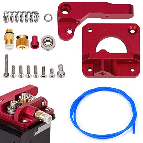 Ender 3 Extruder, CR-10 Extruder Upgraded Replacement, Aluminum MK8 Drive Feed 3D Printer Extruders for Creality ENDER3, CR-10, CR-10S, CR-10 S4, CR-10 S5 With 1.75mm Filament Teflon Tube