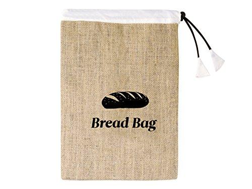 Home sac à pain, 22x 35cm, tissu, marron