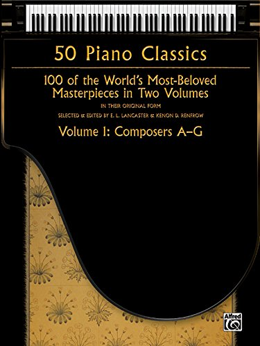 Price comparison product image 50 Piano Classics -- Composers A-G,  Vol 1: 100 of the World's Most-Beloved Masterpieces in Two Volumes