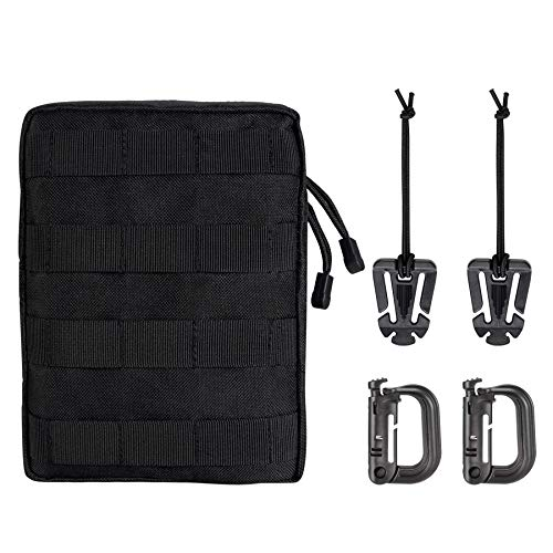 Boosteady Molle Pouch Tactical Compact Waterproof EDC Pouch with Molle Webbing Clips