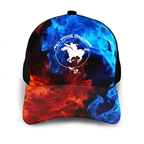 Adjustable Women's Men's Neil Young Crazy Horse Baseball Hat Cap Snapback Dad Hats for Women Men