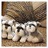 Kawaii schnauzer perro peluche juguete pequeño suave simulación niños peluche peluche juguetes para niños lindo foto accesorios chicas cumpleaños regalo decoración de la sala de regalo por JUÑO DE LIU