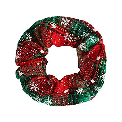 LOPILY Weihnachts Haarband Karierte Haarschmuck mit Glitzer Schneeflocken Weihnachten Haarreife Damen Mädchen Süßer Weihanchten Dekoration Schmuck Stoff Weihnachtsharrband für Kinder Erwachsen