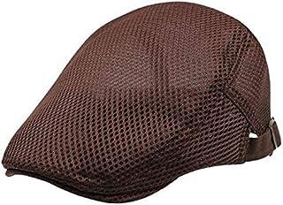 GoQuik Cap Men and Women Summer Tide Breathable Mesh Forward Cap Korean Version of White Beret Casual Hat Sunshade Hat (Color : Brown)