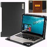 Navitech schwarzes Premium Portfolio Leder Hülle/Cover Trage Tasche/speziell für das Toshiba PORTEGE Z20T-C-11E 12.5