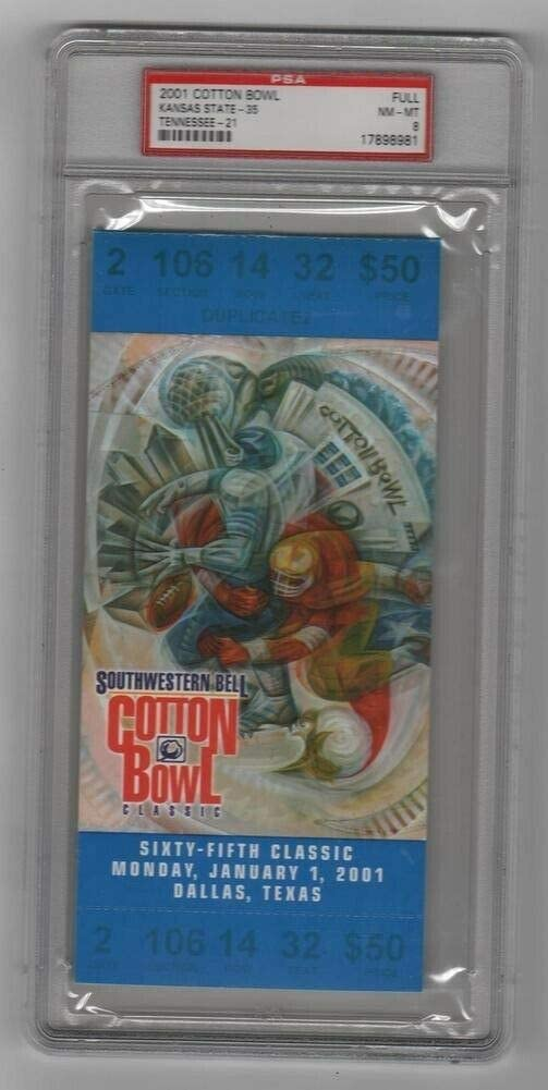 2001 Cotton Bowl Full Ticket Kansas Tennessee Online limited product Mail order Wildcats V State v