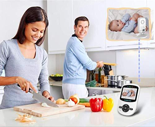 Video Baby Monitor with Digital Camera, ANMEATE Digital 2.4Ghz Wireless Video Monitor with Temperature Monitor, 960ft Transmission Range, 2-Way Talk, Night Vision, High Capacity Battery (1 Camera)