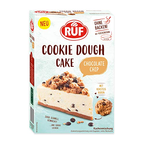 RUF Cookie Dough Cake Chocolate Chip ohne Backen mit Keksteig-Boden