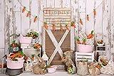 Fondo de fotografía de Pascua Primer Pastel de Ducha de bebé Fondo de Foto de cumpleaños niños recién Nacidos Accesorios de Estudio de Pascua A9 7x5ft / 2.1x1.5m