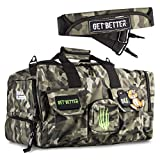 Bear KompleX Gym Bag, Tactical Rucksack for Hunting, Fitness, and CrossFit, 1000 Denier Nylon Duffel for Organizing Gear, Great for Travel and Storage for Workout Gear, Multi-use Bag, Men and Women