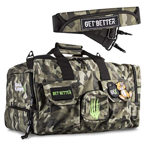 Bear KompleX Heavy Duty Duffel Bag, Gym Bag, Tactical Bag for Fitness,...