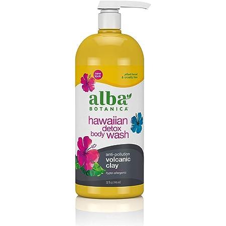 Alba Botanica Hawaiian Detox Body Wash, Anti-Pollution Volcanic Clay, 32 Oz