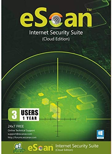 eScan Internet Security Suite with Cloud Security Complete Protection Total Antivirus Web Security product image