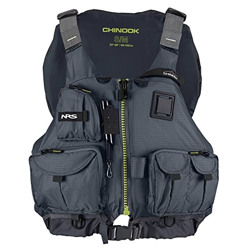 Best Review Of NRS Adult Chinook Fishing Boating PFD Small/ Medium Safety Life Jacket, Charcoal