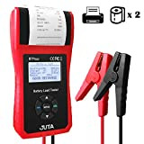 JUTA BTP500 12V/24V 100-3000 CCA Automotive Battery Load Tester, Cranking and Charing System Digital Analyzer Scan Tool with Thermal Printer for Cars, Heavy Duty Trucks, Motorcycles and Boats