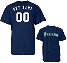 Seattle Mariners Custom Licensed Replica Jersey Tee