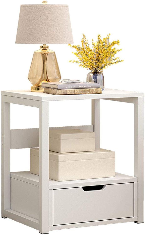 GJM Shop Simple Modern Bedside Table Bedroom Multifunction Bedside Cabinet with Drawers Storage Lockers (color   1, Size   Single Drawer)